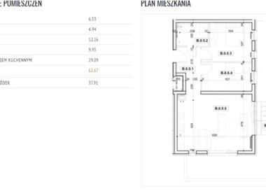 Apartament 62,67 m2 na Pogodnie