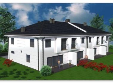 Osów, nowe osiedle domów jednorodzinnych.