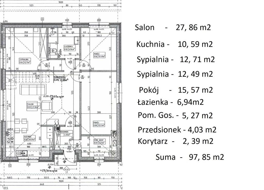 Dom parterowy 3 lub 4 lub 5 pok, standard premium