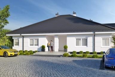 Dobra - parterowy dom w zabudowie bliźniaczej