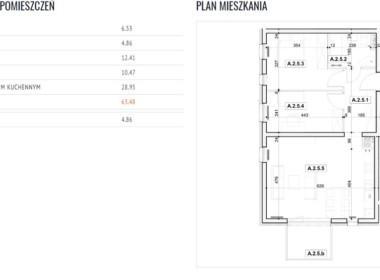 Apartament 63,58 m2 na Pogodnie