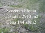 Działka Szczecin Płonia 144 zł/m2