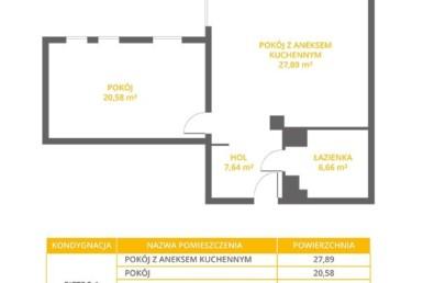 ŁEBA - apartament 2 pokojowy