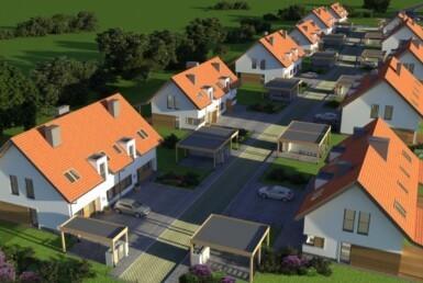 Nowe domy w Smolęcinie, 3km od Warzymic