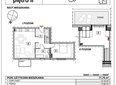 OSÓW - mieszkanie z balkonem i tarasem