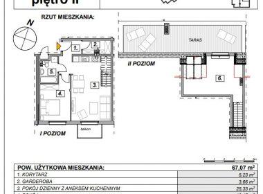OSÓW - mieszkanie II poziomowe