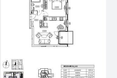 Nowe dwa pokoje w Centrum z Loggią!