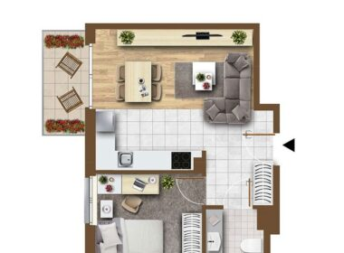 Bukowo nowe 2 pokoje, balkon, garaż.