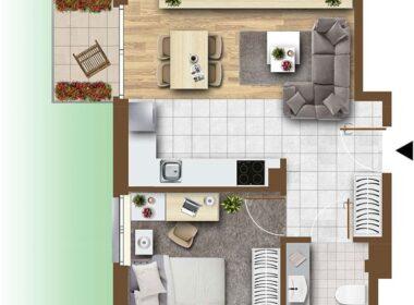 Dwa pokoje 39,9m2, ogródek, garaż